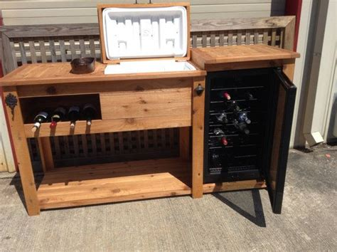 outdoor buffet table serving cart rustic wooden cooler table bar cart wine bar with mini