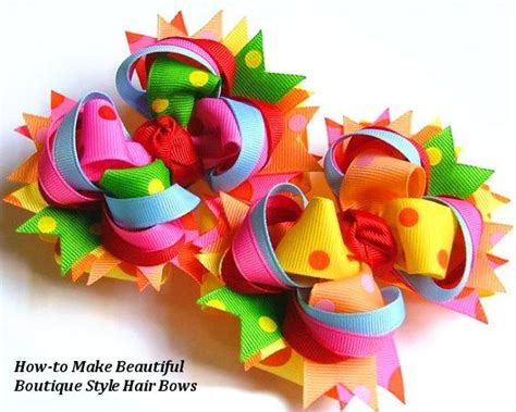 how to make hair bows written instructions twisted layered boutique hair bow tutorial instructions
