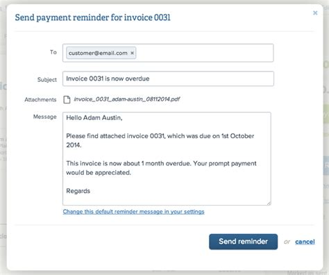 Payment Reminder Sms Template Sending Payment Reminders Yourtradebase Help