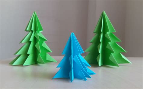 How To Make An Origami Tree In 3d - 3d paper tree how to make a 3d paper tree