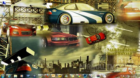 theme for windows 7 nfs most wanted need for speed most wanted theme for windows 7