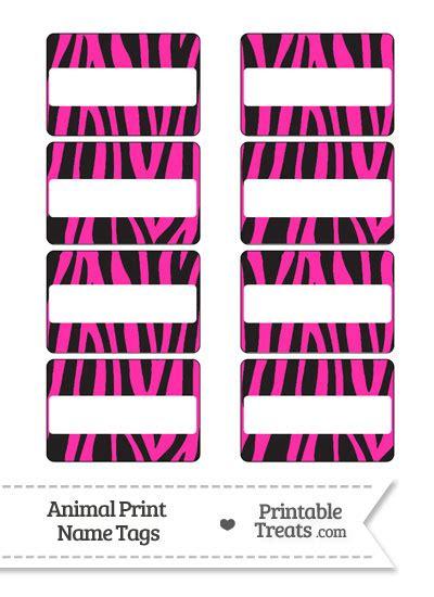 hot pink zebra print  tags printable treatscom