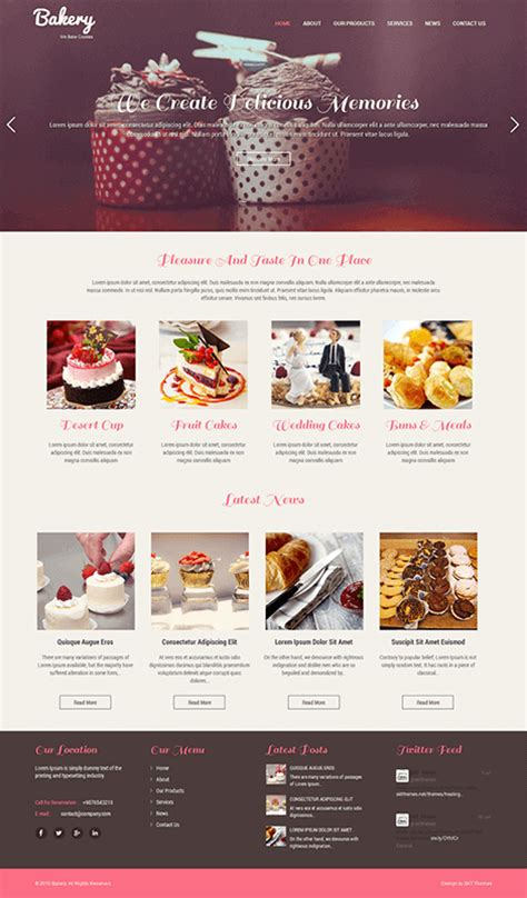 blogger themes bakery 60 best responsive free wordpress themes with slider