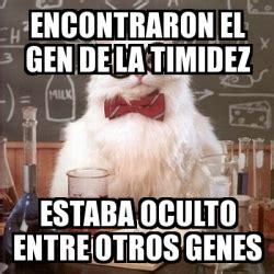 Memes And Genes - meme chemistry cat encontraron el gen de la timidez