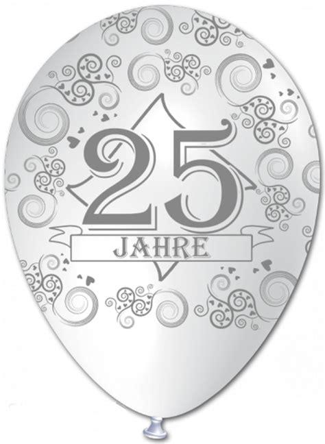 Hochzeit 25 Jahre by Ballonsupermarkt Onlineshop De Luftballons Silberne