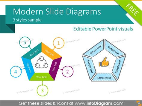 Free Infographics Ppt Slides Diagrams Icons Powerpoint Scribble Flat Slides Infographic Template