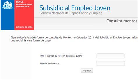 subsidio al empleo 2016 cuanto exenta subsidio al empleo joven bonos 2018 chile