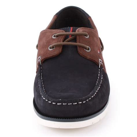 tommy hilfiger ad caign tommy hilfiger cain mens loafers in navy brown