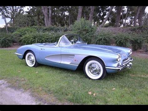 50s corvette for sale sold 1958 corvette convertible silver blue fuelie for