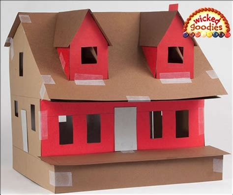How To Make A 3d House Out Of Paper - gingerbread cookie house with a lawn