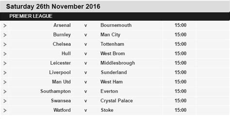 epl weekend fixtures premier league fixtures 2016 17 released