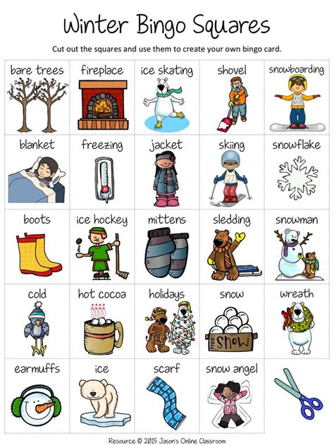 winter bingo card template free winter create your own luck bingo jason s