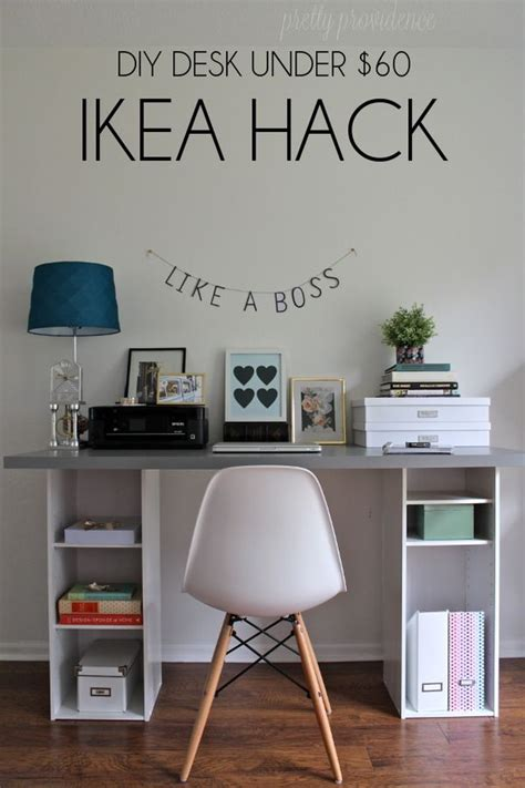 ikea office hack from generic office to stylish and productive home office hacks