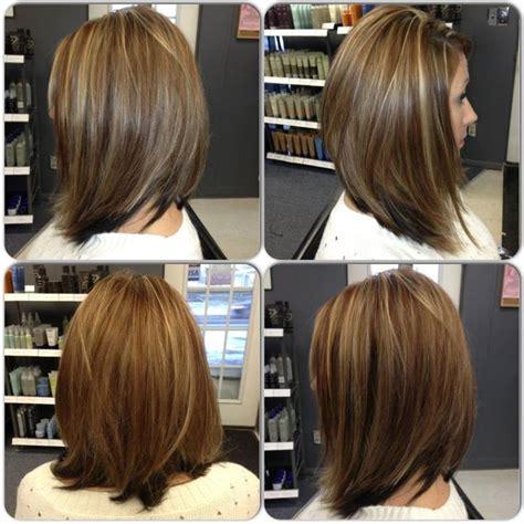 pinterest hair bobs long bob by trisha fringe salon lennon mi meduim length