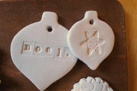 christmas ornament   air dry clay