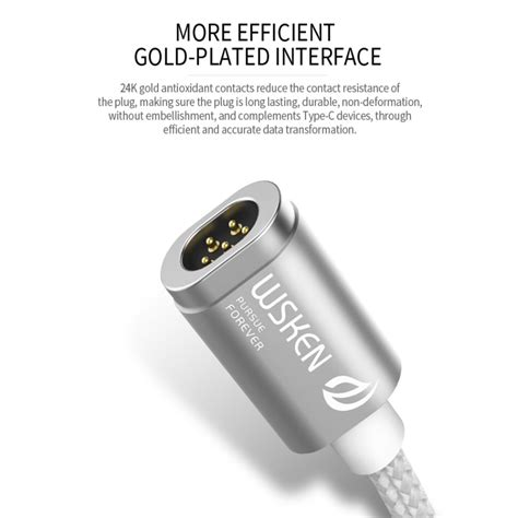 Cable Kabel Charger Magnetic Magnetik Usb Type C Magnet Murh wsken mini 2 kabel charger magnetic usb type c silver jakartanotebook