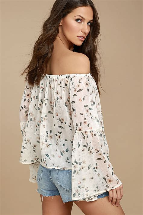 Beige Oversize Print Top 31092 lovely light beige top floral print top the shoulder top 44 00
