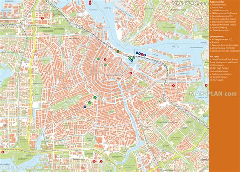 map of amsterdam amsterdam tourist attractions map images