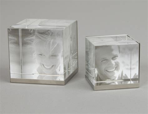 3d Cube Photo Frame by Glass Cube Glass Photo Frames