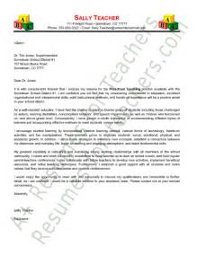 preschool cover letter sle application letter