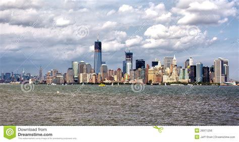 u boat new york harbor skyline from the new york harbor stock photo image 26971256