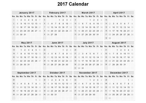 Calendar Of 2017 Calendar 2017 Printable Calendars Of 2017 For Free