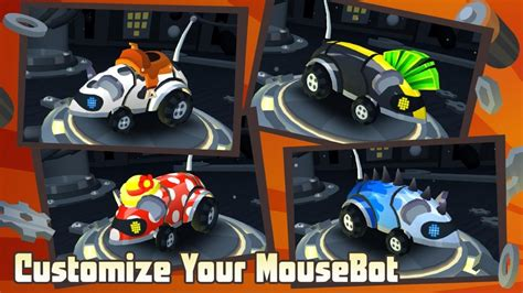mousebot android screens  art gallery cubed