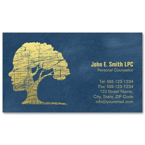 Psychotherapist Business Card Templates by Blue Creative Psychologist Business Cards Mind And Tree