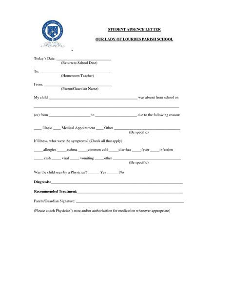 Excuse Letter Of Sick Student absent letter for school sick lesslebenpie30 s soupleave