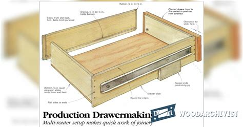 Cabinet Drawer Construction by Drawer Construction Jig Woodarchivist
