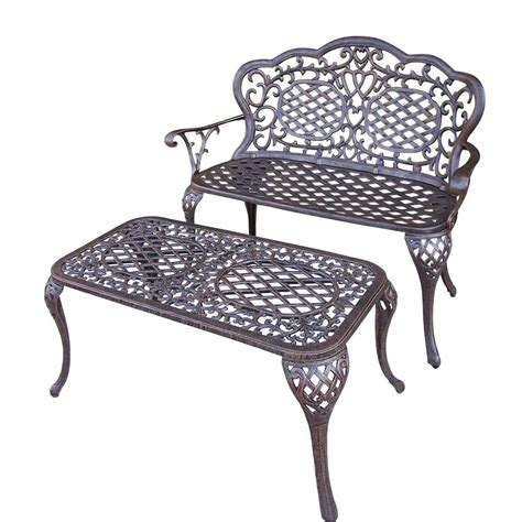 outdoor settee bench mississippi cast aluminum loveseat settee bench and 35 in