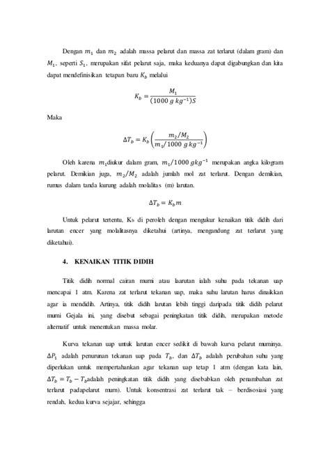 laporan praktikum tentang membuat larutan laporan praktikum sifat koligatif larutan