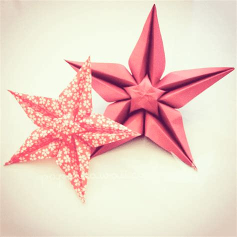 Tutorial Origami Paper Star | origami star flower video tutorial paper kawaii