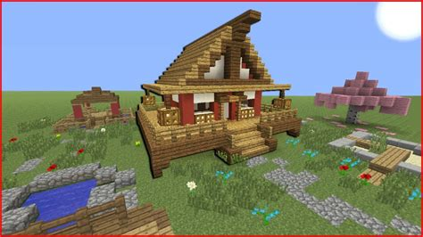 minecraft japanese house minecraft tutorial how to make a japanese house youtube