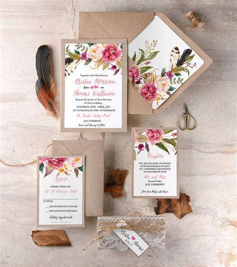 Hochzeitseinladung Floral by Die Besten 17 Ideen Zu Rustikale Hochzeitseinladungen Auf