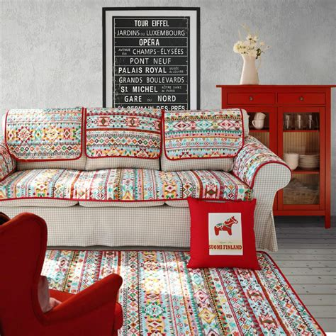 Country Vintage European Style American European Vintage Country Style Geometric Linen Cotton With