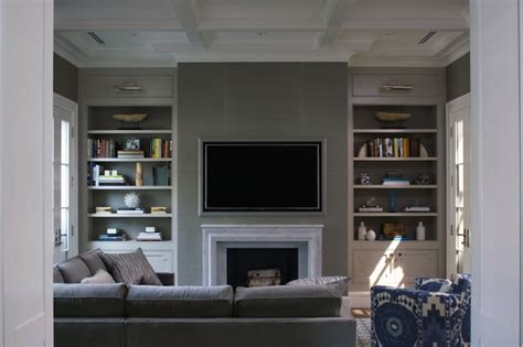 Fireplace Niche by Family Room Fireplace And Built In Bookcase Remodel Living