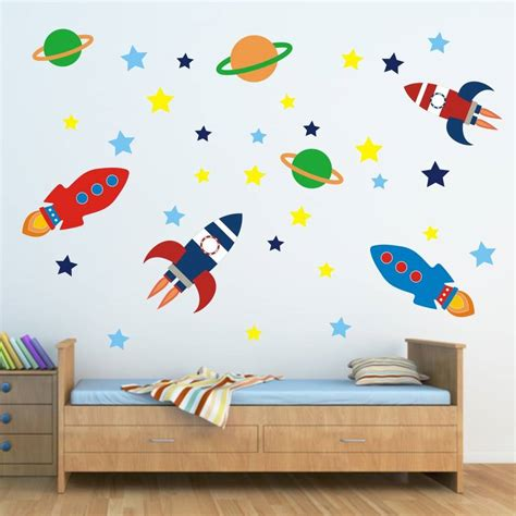 space bedroom stickers outer space wall sticker set by mirrorin