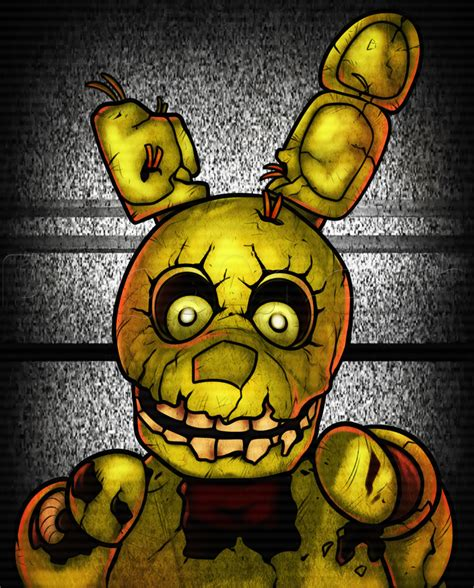 how to draw five nights at freddy s learn to draw fnaf books how to draw springtrap from five nights at freddys 3 step
