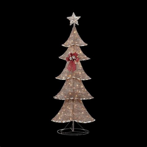 home accents outdoor christmas decorations home accents holiday 6 ft pre lit brown rustic tree ty090 1411 the home depot