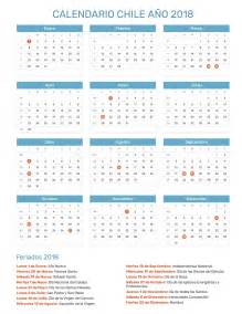 Calendario 2018 Laboral España Calendario Chile A 241 O 2018 Feriados