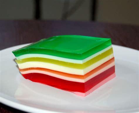 layered rainbow rainbow jello salad