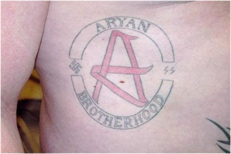 arian brotherhoods tattoos prison tattoos and their meanings