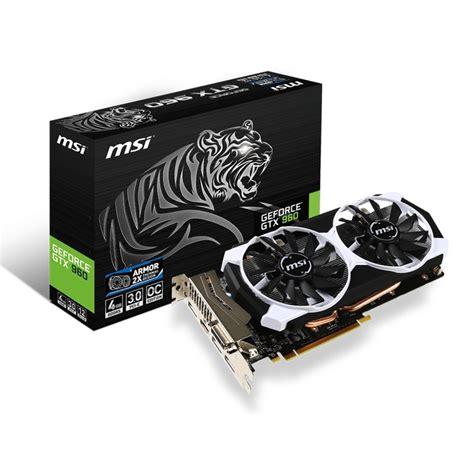 Msi Vga Card Nvidia Gtx960 2gb msi gtx960 4gd5t oc 4gb ddr5 pccomponentes