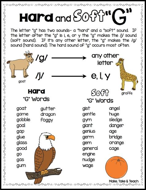 G List - teaching the and soft quot c quot and quot g quot make take teach