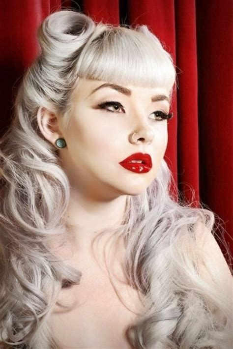 pin up hairstyles for fine hair 140 rockabilly frisuren von den 50er inspiriert