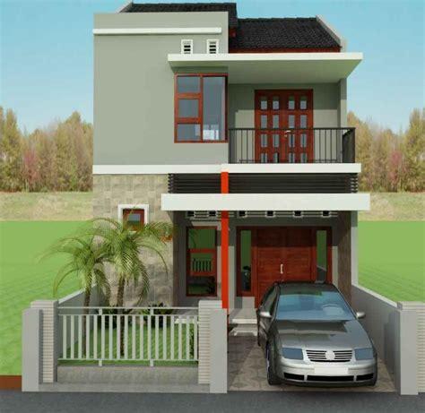 desain depan rumah tusuk sate desain rumah minimalis 2 lantai tipe 21 mewah dan modern