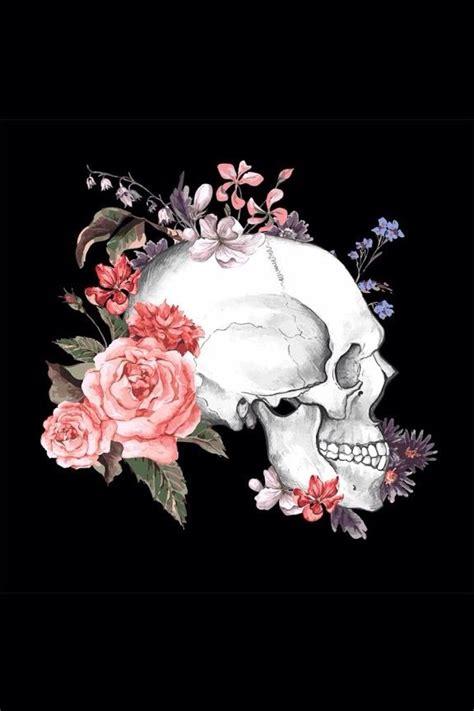 Skull And Flower skull flowers skeleton skull bones