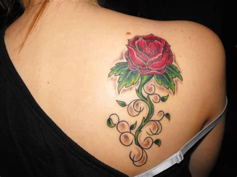 rose tattoo on back shoulder 55 best tattoos designs best tattoos for