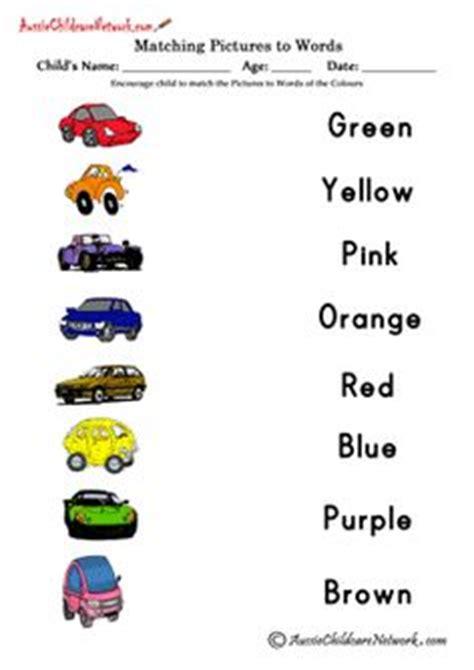 color word recognition worksheets matching colors printable worksheets free printables resources pre kinder 1st reading
